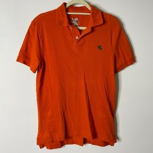Express Orange Classic Fit Polo Small H7